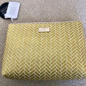 Handbags - Gold Glitter makeup/ travel Bag